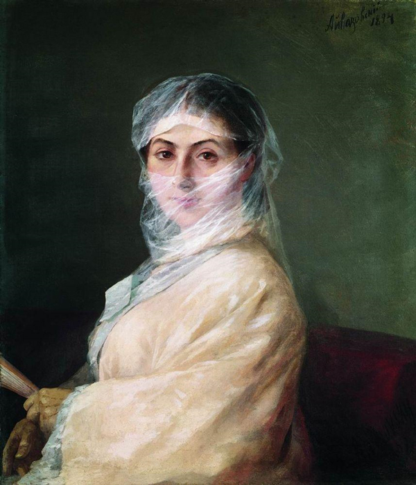 И.Айвазовский. «Портрет жены художника» - Анны Бурназян