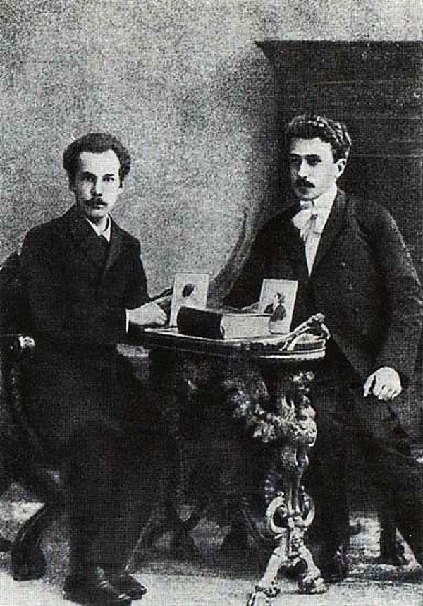 Сергей Соловьев и Андрей Белый.