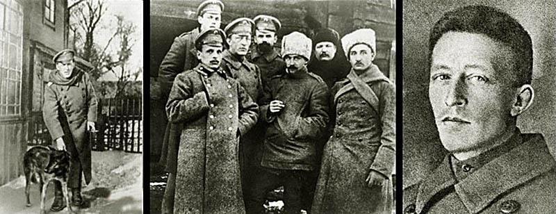 На фото: Александр Блок (3-й слева) среди чинов 13-й инженерно-строительной дружины, 1916 год.Фото с сайта: http://feldgrau.info/other/10401-aleksandr-blok-na-pervoj-mirovoj-vojne