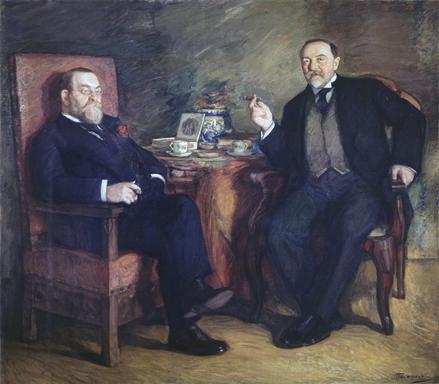 Л.О.Пастернак. «За чашкой кофе. Портрет Цейтлина и Высоцкого»