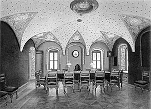 Так выглядела роспись потолка зала заседаний археологического общества