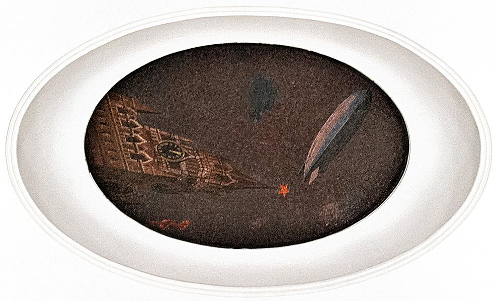 Дирижабль над Спасской башней. Фото Ю.Звездкина