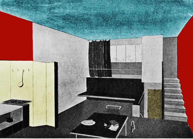 Схема жилой ячейки дома Наркомфина