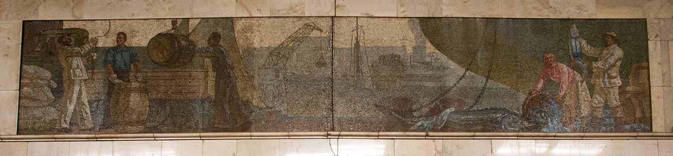 Станция метро «Автозаводская», фрагмент. Фото Ю.Звездкина