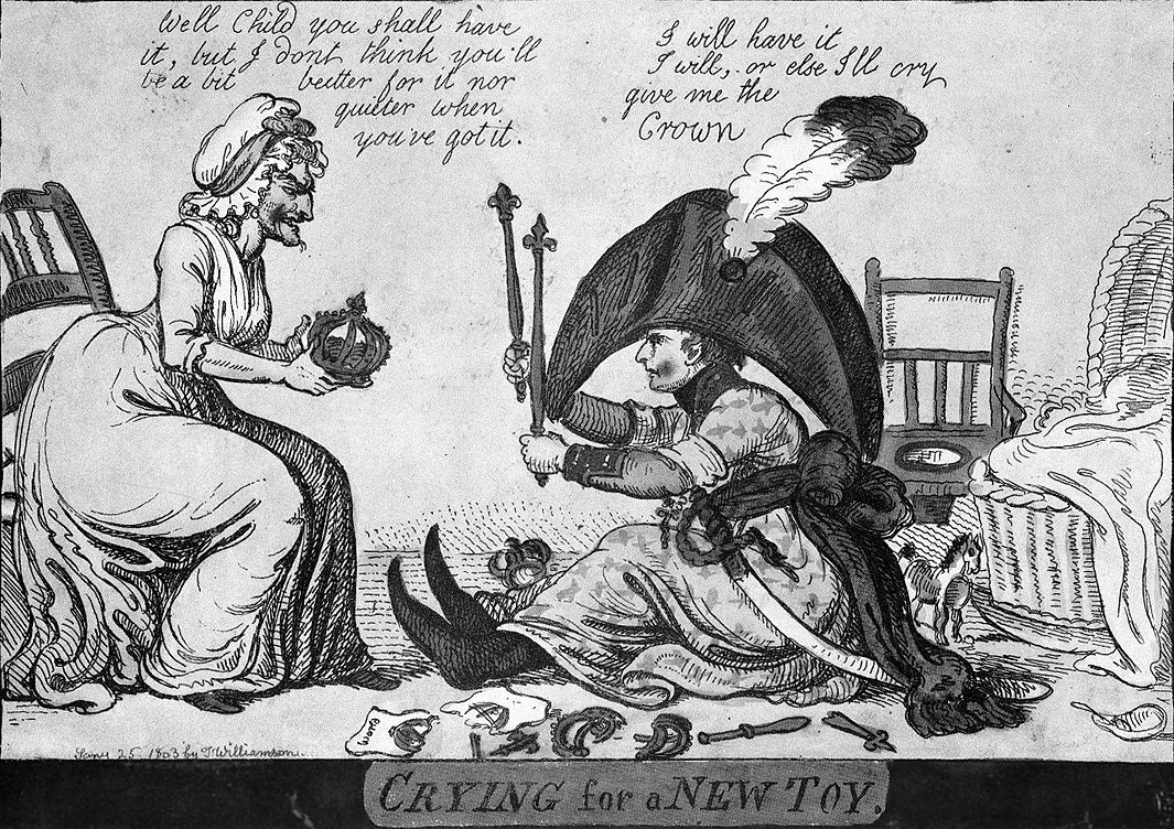 Английская карикатура на Наполеона