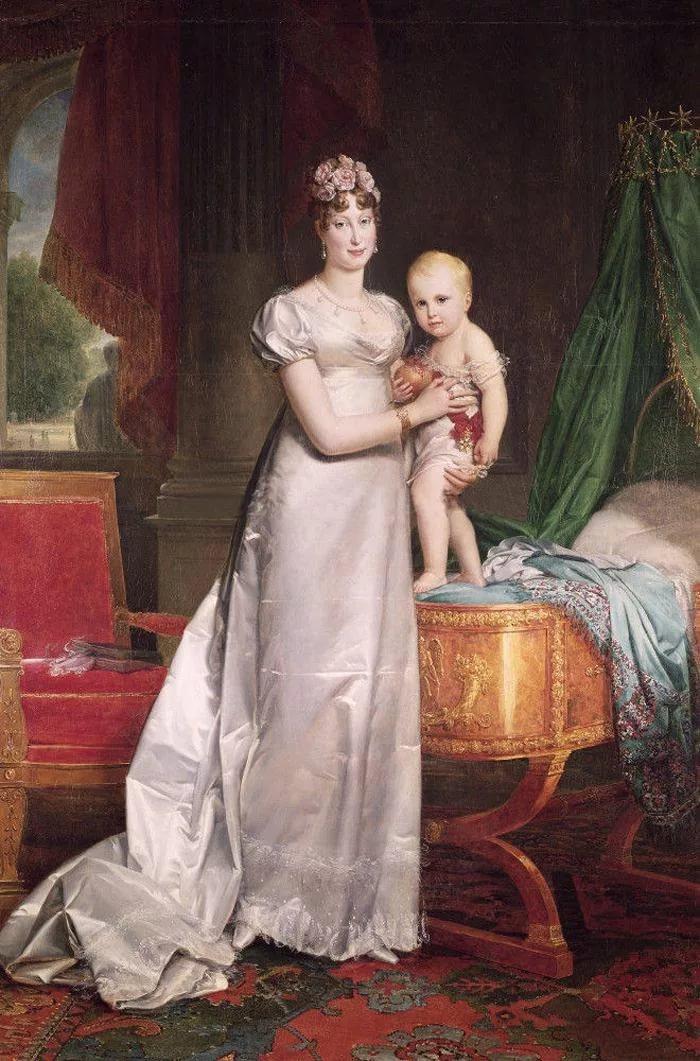 вторая жена Наполеона Мария-Луиза с их сыном Наполеоном-Франсуа-Шарлем-Жозефом