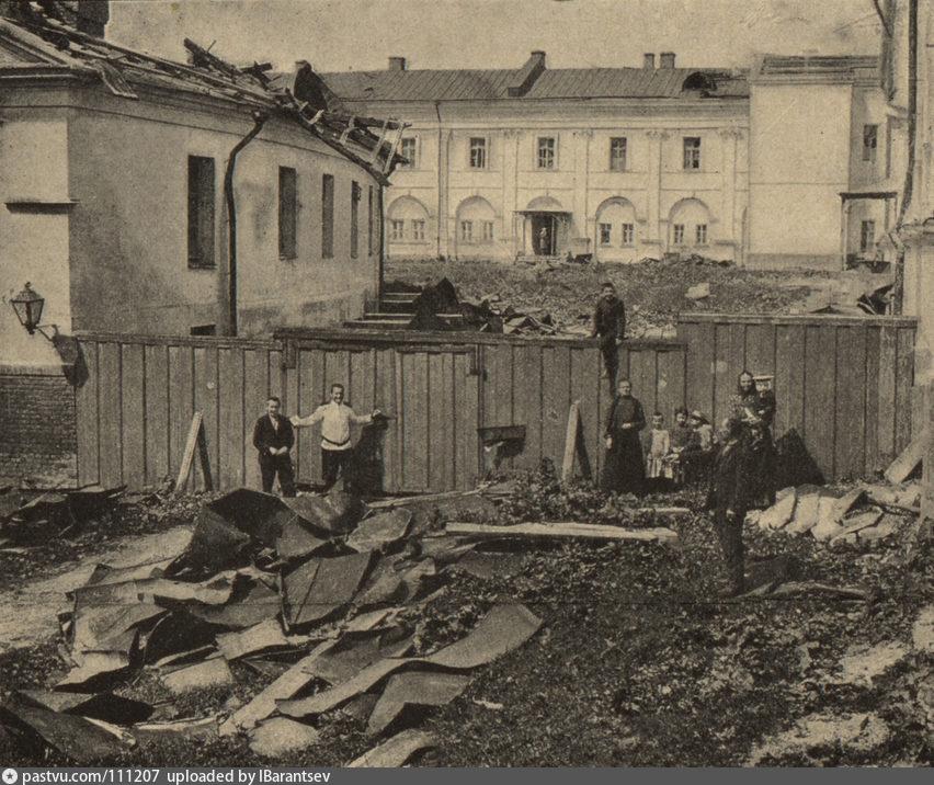 Последствия урагана 1904 г. в Москве. Виртуальная экскурсия