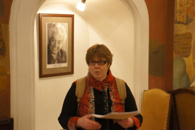 экскурсовод Ирина Стрельникова в особняке Святополк-Четвертинского, в Пестром зале