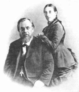 С женой Екатериной Алексеевной