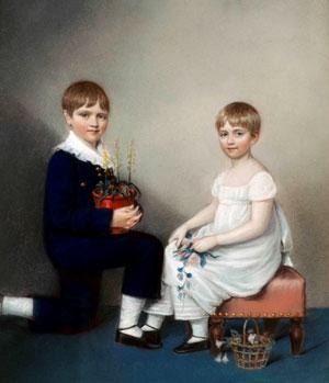 Чарльз с сестрой Кэтрин