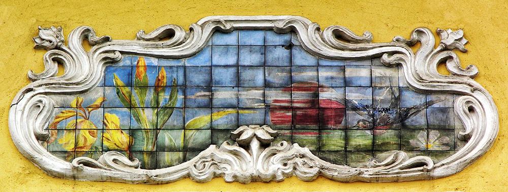 На фото: Мозаичное панно особняка Динга. http://bellezza-storia.livejournal.com/46587.html Фото Ю.Звездкина