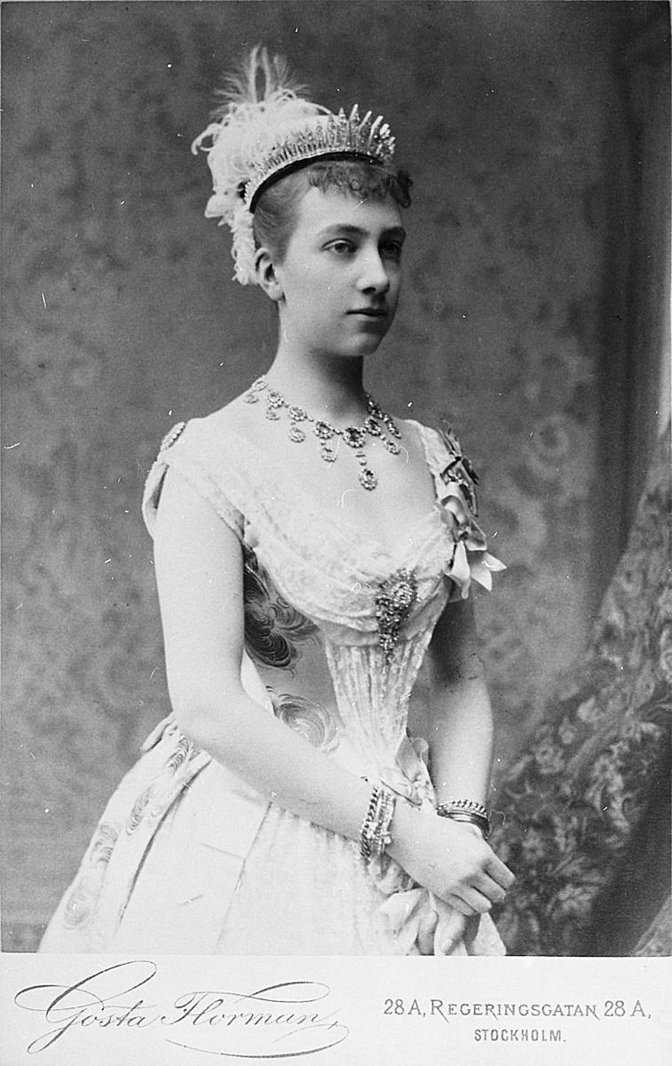 Виктория в молодости – уже жена шведского наследника