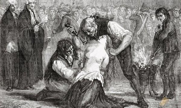 Жанну де Ламотт клеймят на площади