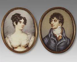 шведский король Жак Бернадот с женой, в прошлом невестой Наполеона Дезире