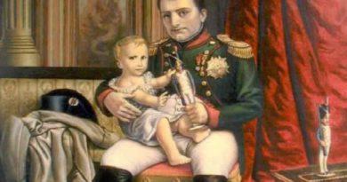 Наполеон с сыном, Римским королем