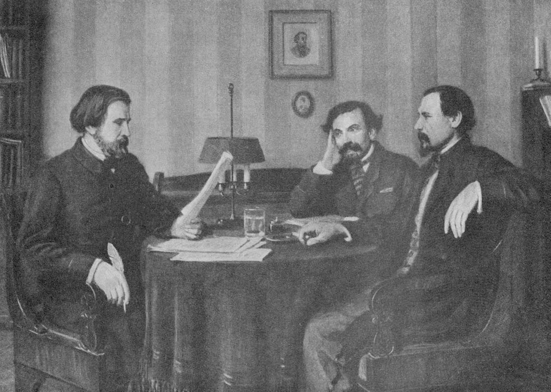 "Тургенев читает рукопись редакторам ""Современника"". Биография тургенева"