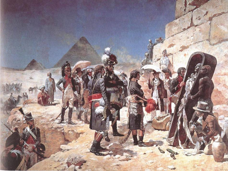 Наполеон в Египте осматривает мумию