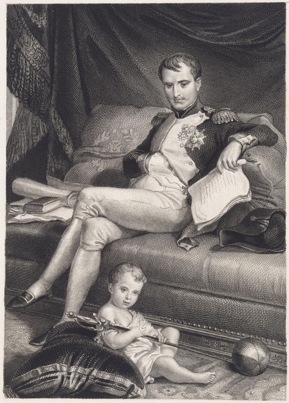 Наполеон с сыном, королем Римским