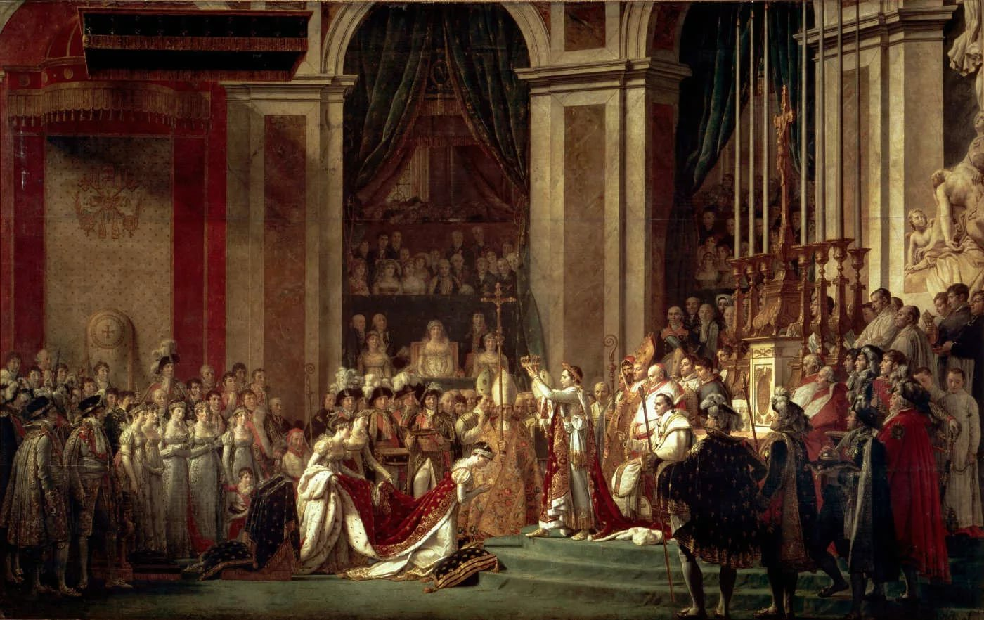 Наполеон коронует Жозефину в Соборе Парижской богоматери
