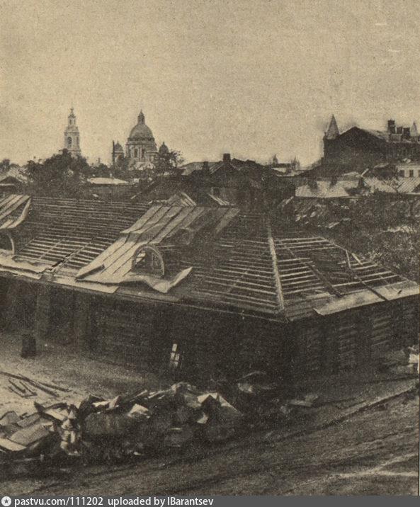 1904 г, последствия урагана в Москве, виртуальная экскурсия