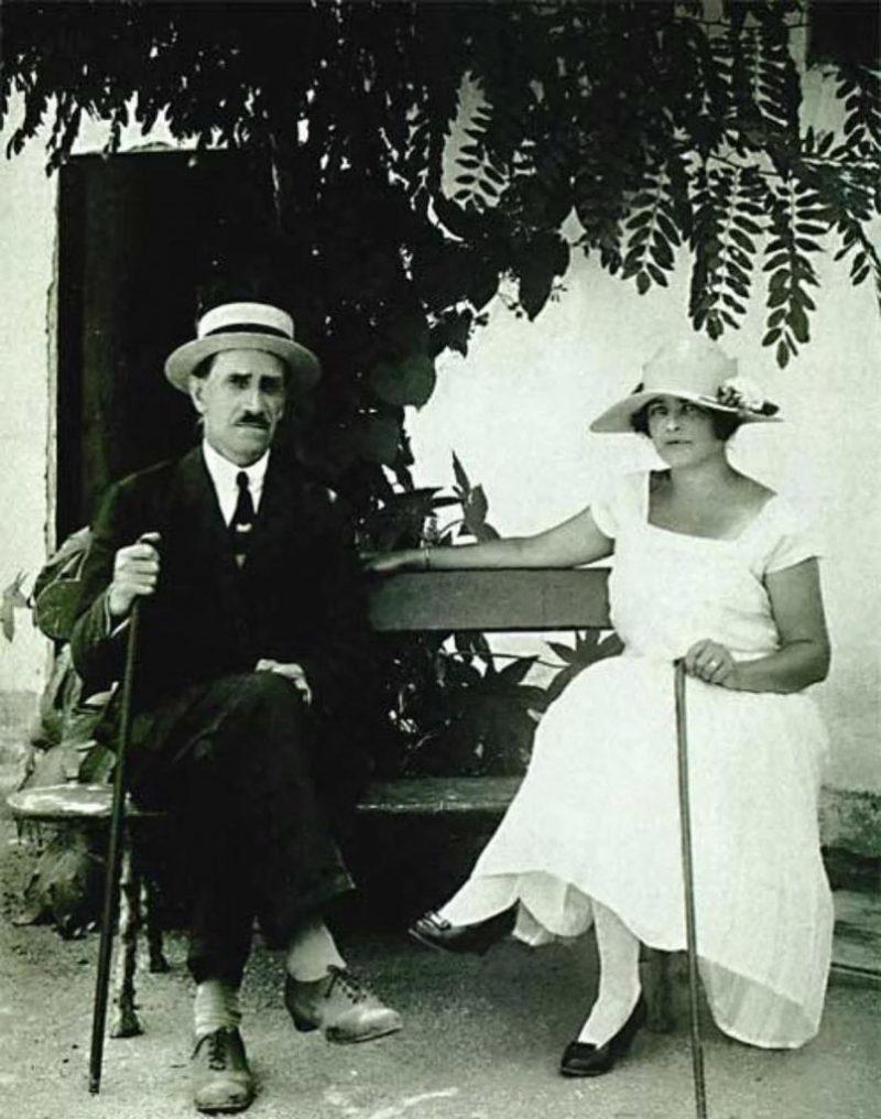 Александр Грин с женой Ниной