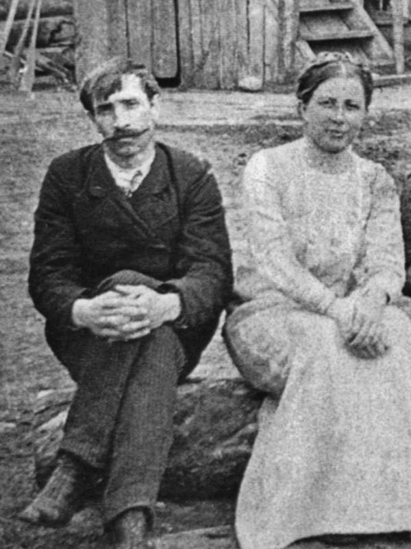 Александр Грин с первой женой